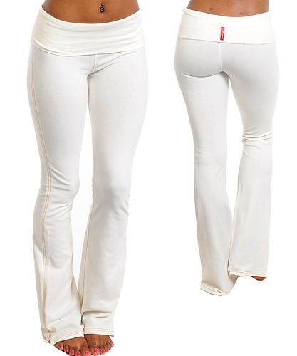 Fitted White Yoga Pants