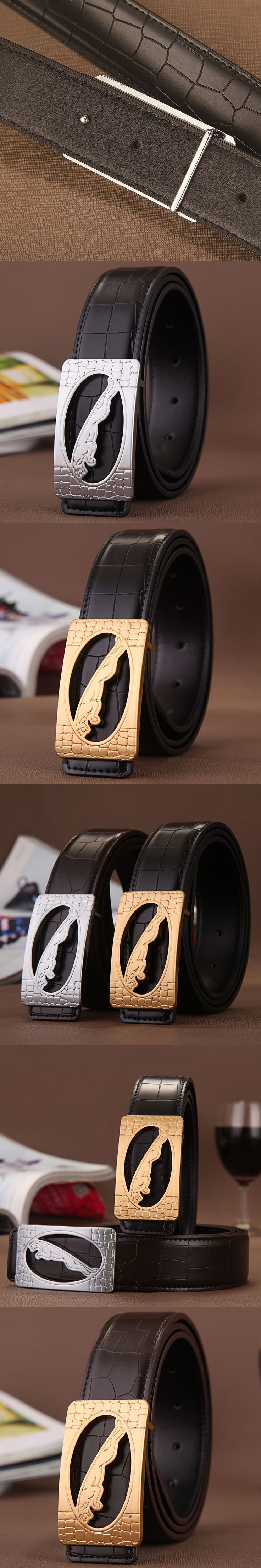 Man Belt 2016 Fashion New Luxury Genuine Leather Designer Belts Men High Quality Smooth Buckle Belt For Business Male Wide Belts