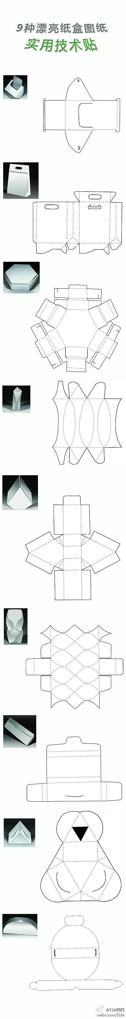 geniale box templates, many shapes