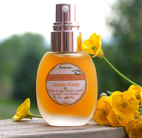 Organic Facial Serum - Natural Vegan Moisturizer face cream for all skin types - Golden Purity