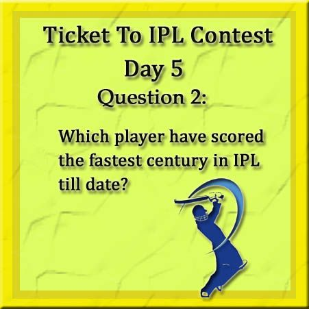 Hurry Up! Don't miss the chance to win your free IPL ticket. Participate now. Like Us, Share the posts and answer all 4 questions correctly Here is the second question for you..