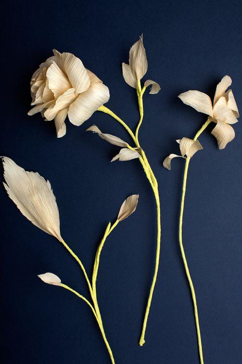Corn husk blossoms. Beautiful!
