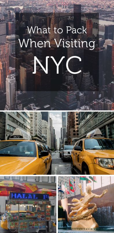 What to pack when visiting NYC