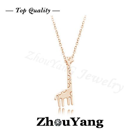 ZYN235  Deer 18K Rose Gold Plated Fashion Pendant Jewelry Made with Austria Crystal  Wholesale $160,61