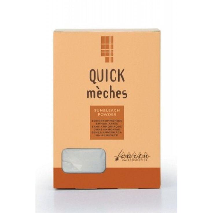 Quick Meches Sunbleach Powder - pudra decoloranta pentru suvite Pudra decoloranta delicata pentru suvite. Fara amoniac. Se combina cu crema. Quick Meches Sunbleach Powder. Web: www.CarinRomania.eu Tel: 0745 097054