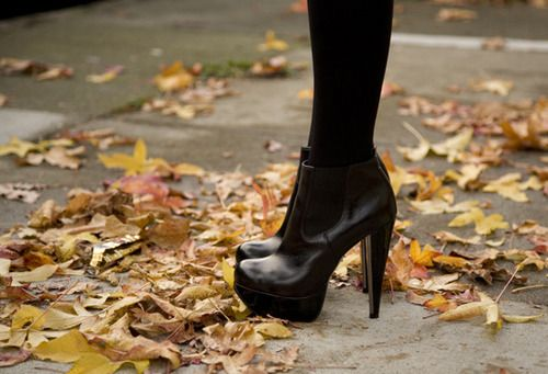 I own these boots, I love them!!!!: Ankle Boots, Fall Shoes, Black Bootie, Black Boots, Fall Bootie, Black Heels, Fall Boots, Black Tights, Baby Boots