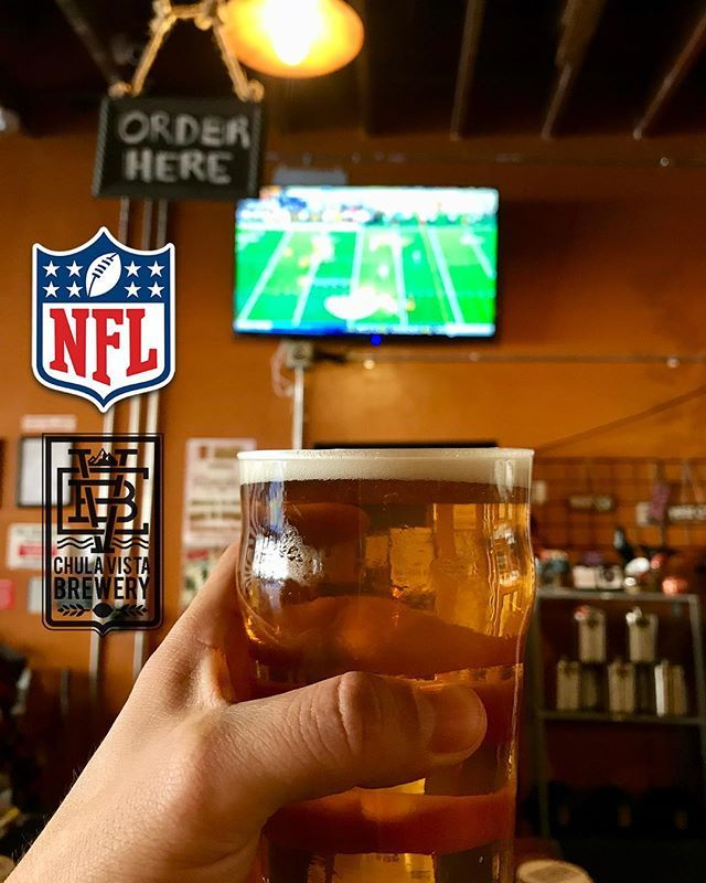 Did you know on Sunday's CVB opens at 9:00 am for the duration of the #NFL season?! ☀️ Make @cvbrewery your spot for #football Sundays and be ready to cheer on your favorite team! We got games on all day! 🏈 🤜🏻🤛🏻 #chulavistabrewery #sundayfootball #footballseason #imperialbeachlocals #sandiegoconnection #sdlocals #iblocals - posted by Chula Vista Brewery  https://www.instagram.com/cvbrewery. See more post on Imperial Beach at http://imperialbeachlocals.com