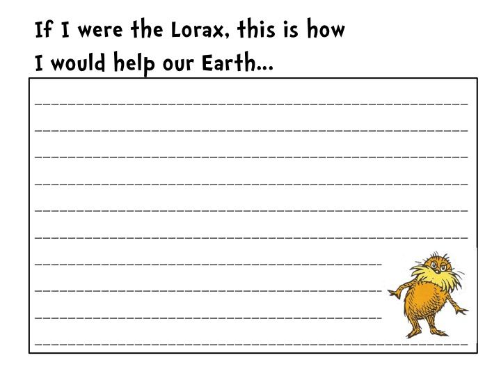 Stellar 2nd Grade Sweethearts: The Lorax Writing Paper!