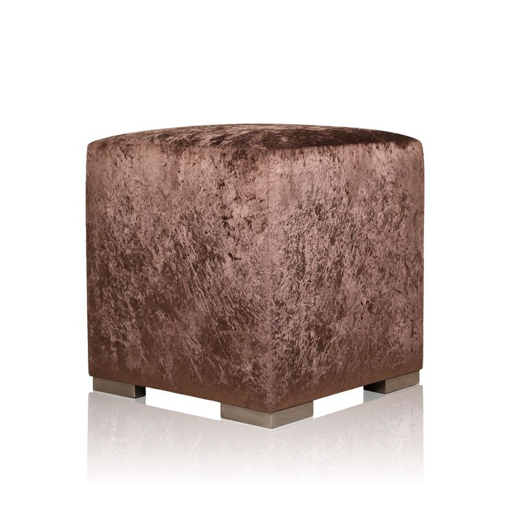 Brown Rayon Velvet Pouffe - Instil a sense of grace to your living room corners with this classy yet minimalistic, rayon velvet pouffe. Taking an inspiration from the dint of the landscapes and revealing a frolicsome texture, this attractively designed pouffe is a chic accessory for your contemporary living room.#INVHome #LuxuryHomeDecor #InteriorDesign #RoomDecor #Decorations #Decor #INVHomeLinen #Tableware #Spa #Gifts #Furniture #LuxuryHomes #Furniture #Stools
