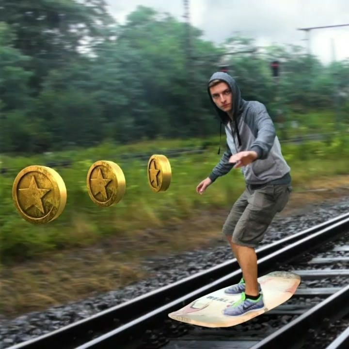 Subway Surfers In Real Life   All Credit to: Shutter Authority Youtube Video Edit @viralnova365