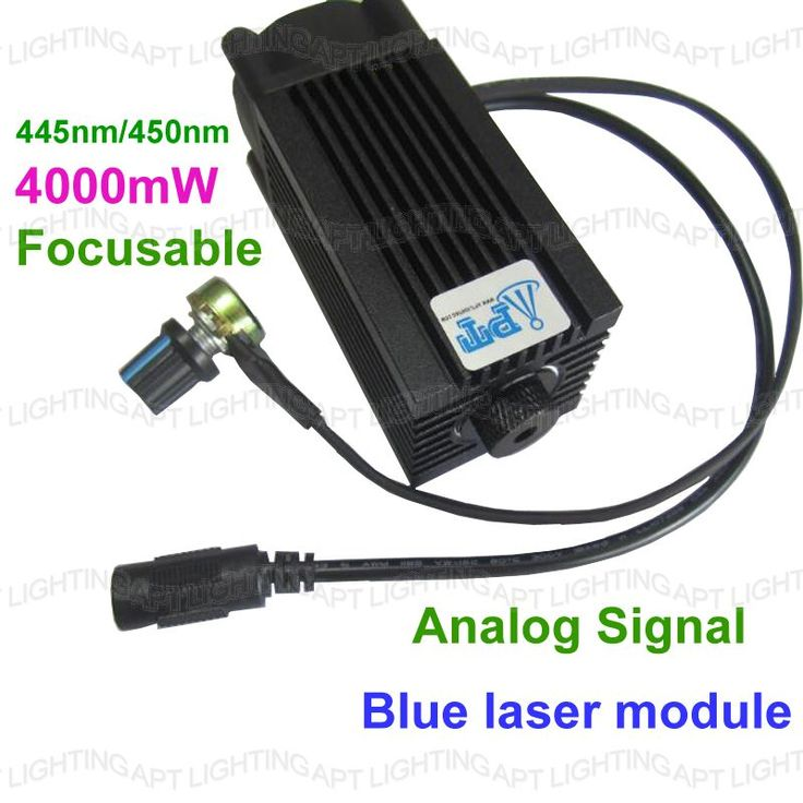 DIY Analog signal CNC 4000mw/4w 450nm Focusable blue Laser Module diode laser cutting Engraving carving Machine Adjust  Power  #Affiliate