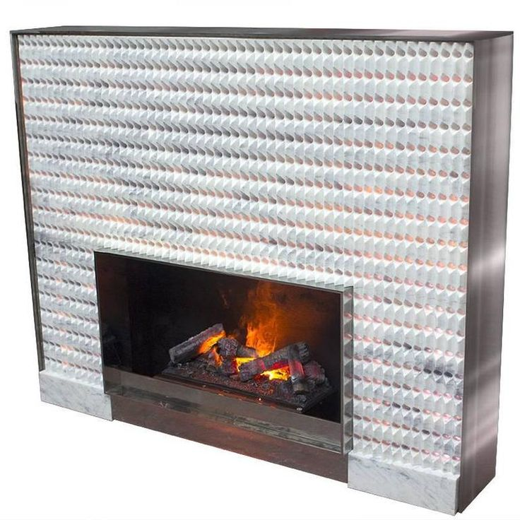 """""""Origami"""" Minimalist Contemporary Fireplace in Lila Marble   From a unique collection of antique and modern fireplace tools and chimney pots at https://www.1stdibs.com/furniture/building-garden/fireplace-tools-chimney-pots/"""