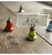 Bella Recycled Place Name Set of 8 Multicoloured by INDICA  These charming place name holders will add style to any dinner party. They come as a set of eight Size: 5cm height x 3cm width