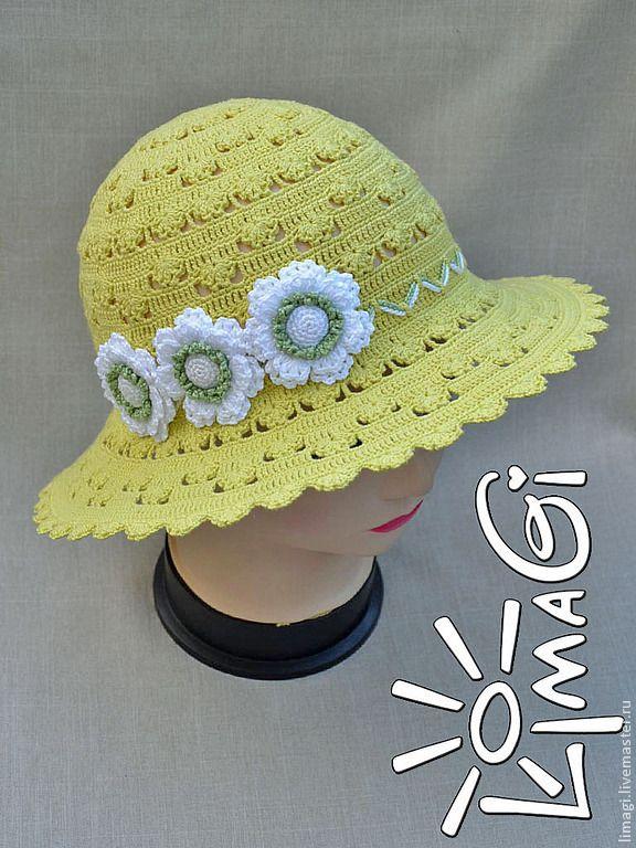 """Купить Шляпка """"Солнечные капельки"""" - описание - шляпка ажурная, шляпка для девочки, шляпка вязаная"""