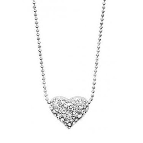 Pilgrim Classics Crystal Silver Plated Heart Pendant Necklace Was £25 Now Only £16.99 from Lizzielane.com http://www.lizzielane.com/product/pilgrim-classics-crystal-silver-plated-heart-pendant-necklace/