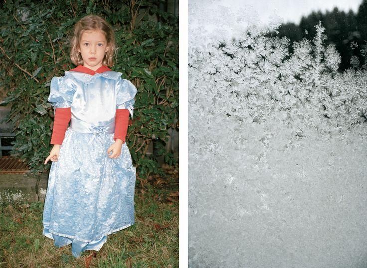 """""""Girl in Blue Dress & Frost Pattern"""""""