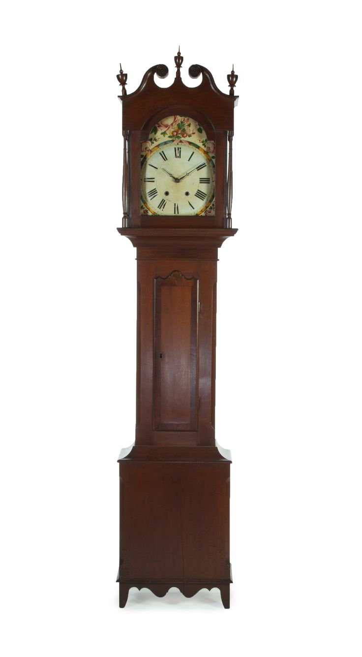 Vintage industrial clock double sided factory clock brilli 233 - Garths Tall Case Clock Ca 1820 Cherry And Poplar Case Is