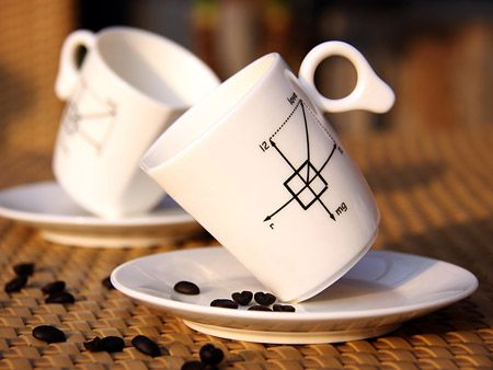 Technologies Nouvelles: #Tasse à #café Pour les #Geeks Math défie la gravité.