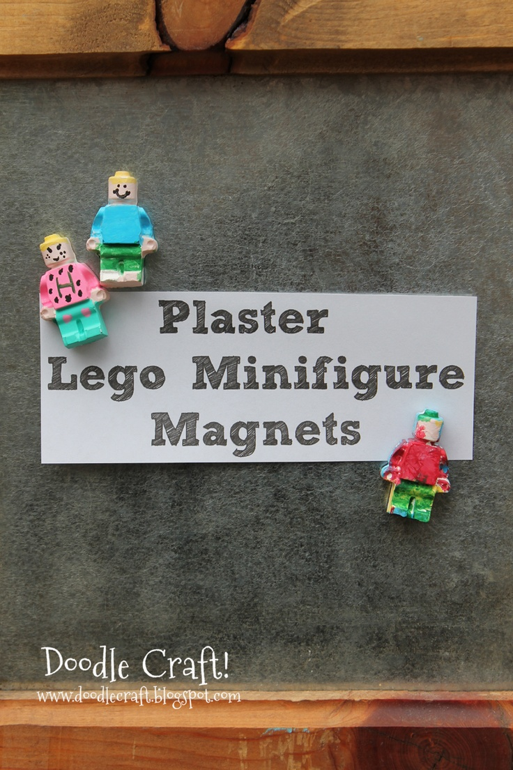 Plaster Lego Minifig and Star Wars Magnets!
