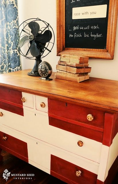 How to Repaint Furniture  Red  White    Blue Style66 best red painted dressers images on Pinterest   Red painted  . Red White And Blue Painted Furniture. Home Design Ideas