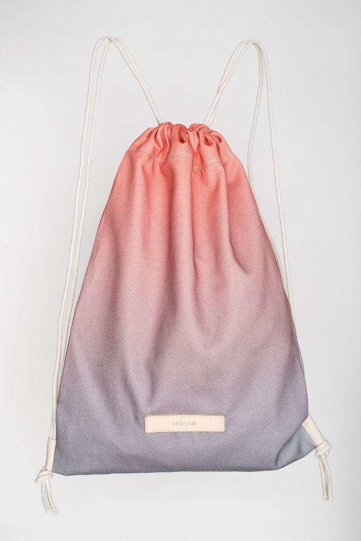 Storm | NOSKA SHOP  #Storm #Rucksack #LilacGray #PeachEcho #drawstring #bag