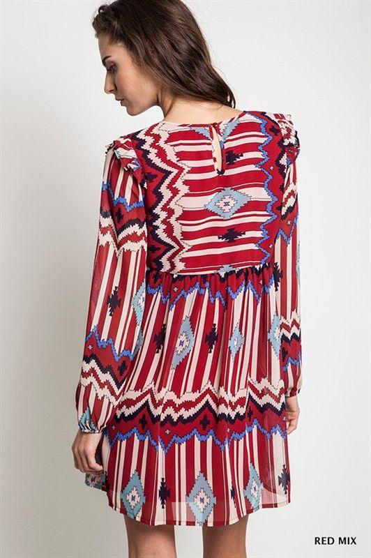 Tribal Aztec Babydoll Dress