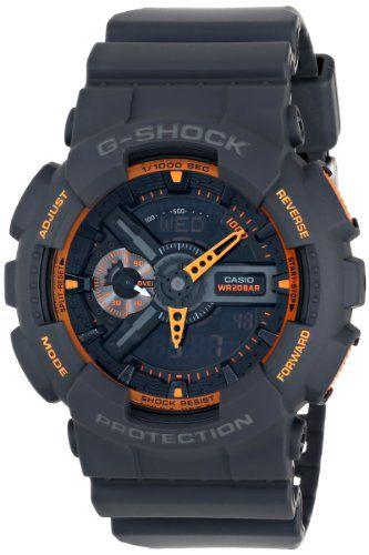 Casio Men's GA-110TS-1A4 G-Shock Analog-Digital Display Quartz Grey Watch - http://www.gadgets-magazine.com/casio-mens-ga-110ts-1a4-g-shock-analog-digital-display-quartz-grey-watch/
