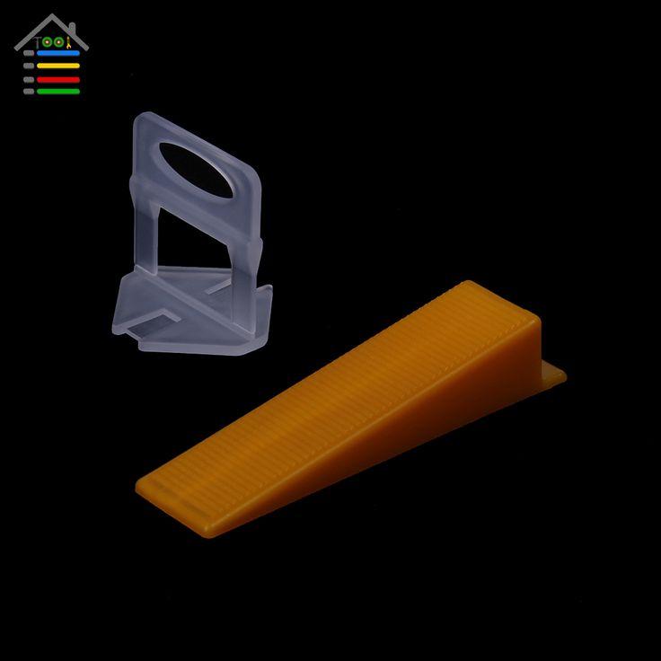 100 unid Clips Con Cuñas de Tipo D de 50 unid Espaciadores Del Azulejo Nivelador Fontaneros 1mm Brecha Soladores suelo de baldosas De Cerámica de Pared Sistema de Nivelación del Piso herramienta