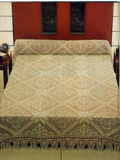 Victoria - Handmade Creations : Μεγάλα δαντελένια μοτίφ συνθέτουν υπέροχες κουβέρτες