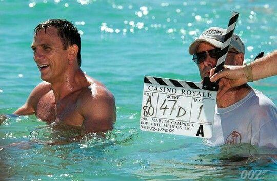 Martin Campbell and Daniel Craig on set...