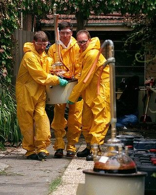 Amphetamine lab explodes in Brunswick. Later found to be a record $78 million drug lab. One man, Paul Edward Howden charged and convicted. His lawyers argue he was acting on behalf of the godfather of his children, and man called 'Tony'. No-one appears to inquire into his surname. The property is later used as surety for Mokbel when he skips bail. Photo: Pat Scala