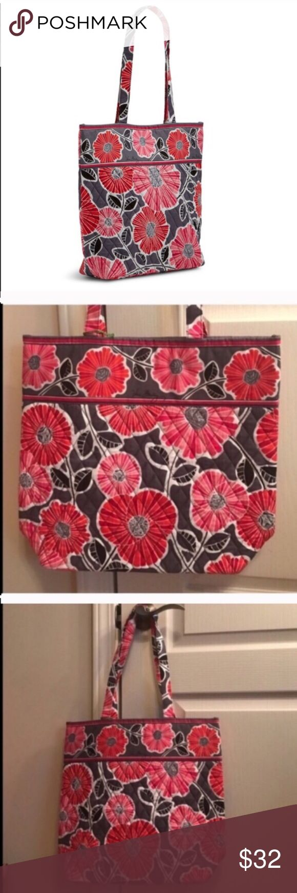 NWT Vera Bradley tote bag in cheery blossoms NWT Vera Bradley tote bag in cheery blossoms Vera Bradley Bags Totes