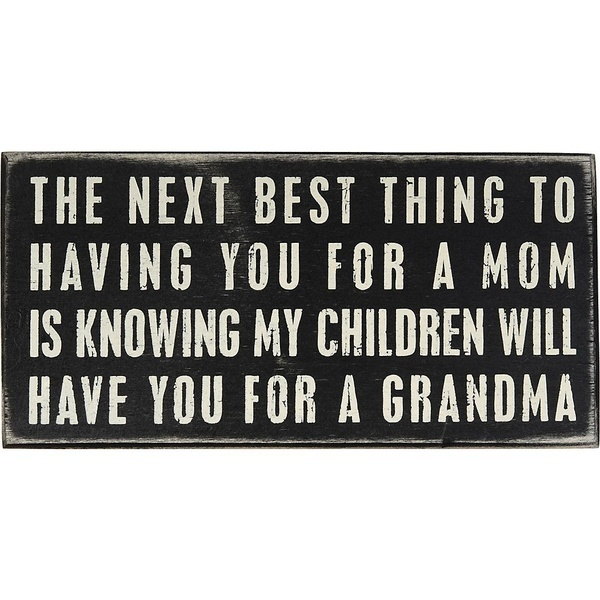 My Momma would love this - and then ask for proof with the grand kids! Motherly Love!