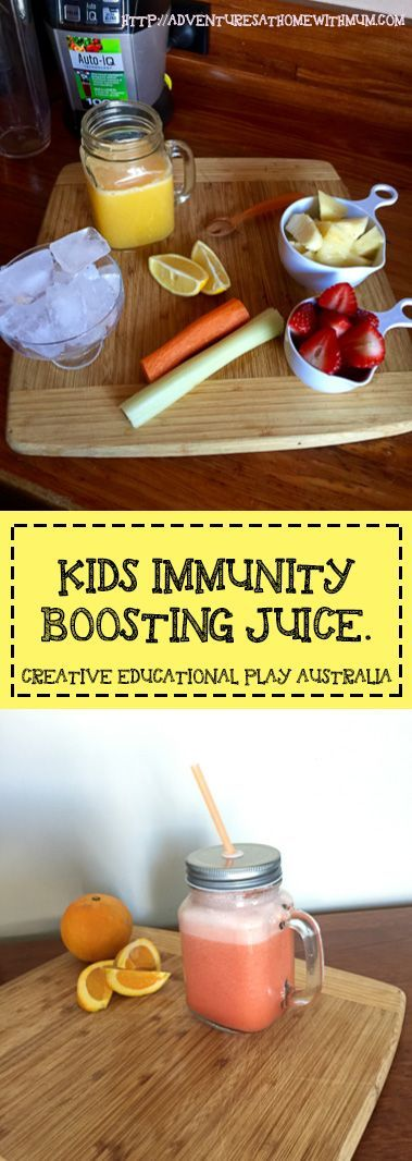 kids immunity boosting juice.  Full of Flu fighting ingredients.  Free Recipe Inside.   http://play-based-parenting.com/2016/09/06/immunity-boosting-juice/