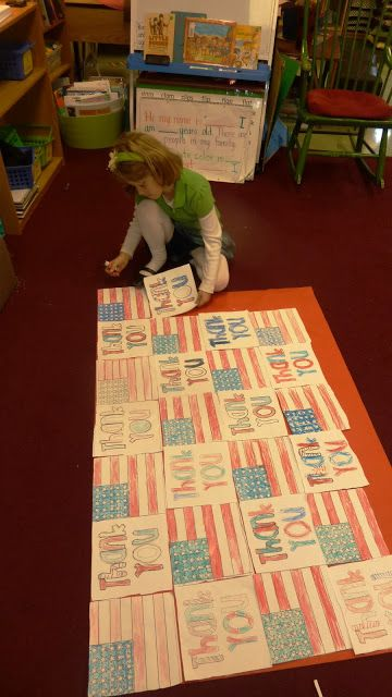 Thank you quilt for veteran visitors...backdrop for pictures (morning work flag/thank you)