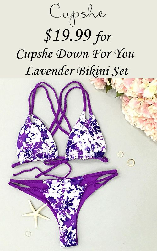 CUPSHE is offering Cupshe Down for You Lavender Bikini Set at just $19.99. Redeem the link now and get this deal. For more Cupshe Coupon Codes visit: http://www.couponcutcode.com/stores/cupshe-coupon-codes/