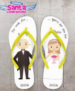Chinelos Personalizados Casamento feitos especialmente para você. + de 9 mil estampas à sua escolha. Fazemos sua arte sem custo. Confira Agora.