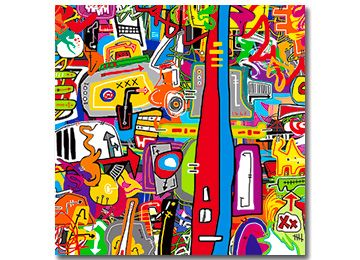 Crackers - Abstract graffiti canvas art for the modern home by Sam Freek #modern #canvasart #multicoloured #abstract - www.didgiwidgi.co.uk