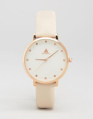 ASOS Premium Clean Dial Leather Watch