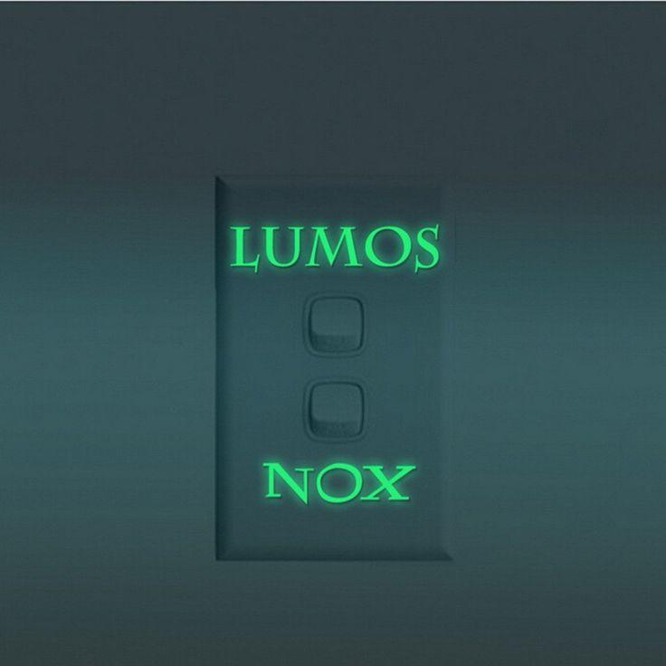 Harry Potter Lumos Nox Luminous Light Switch Sticker