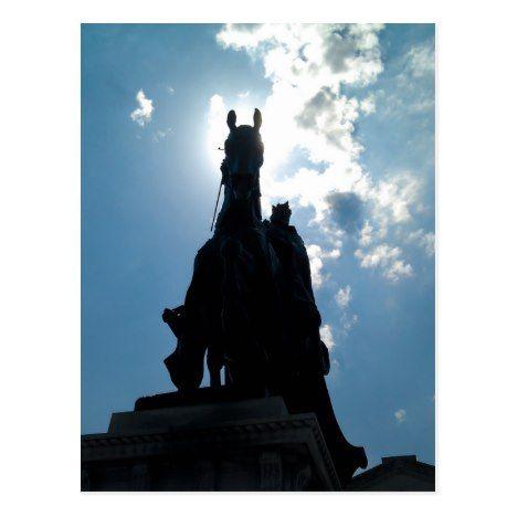 King Louis IX Art Hill Forest Park Postcard  #PatronSaints  #StLouis  #LouisIX