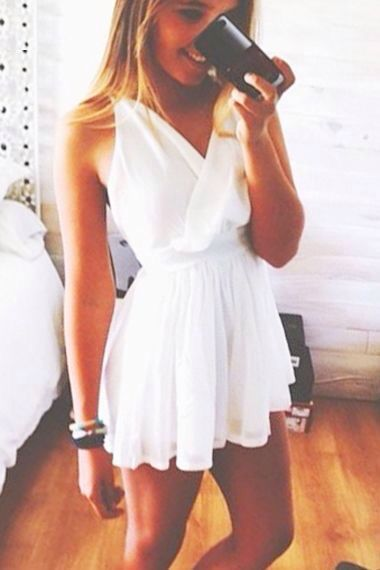 wrap white dress.