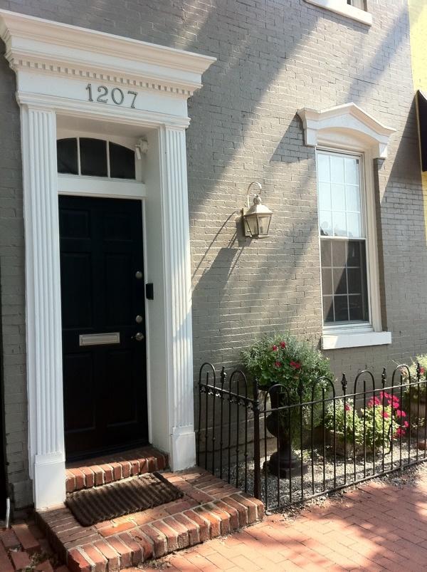 Georgetown door with fluted pilasters and door