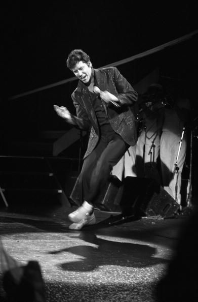 Shakin' Stevens performs at the Dominion Theatre London 12th April 1985