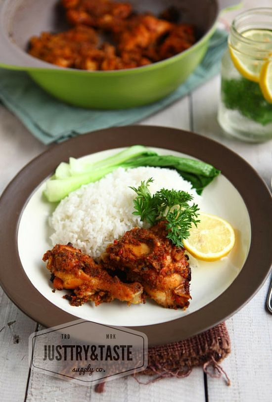 Grilled chicken with sambal andaliman