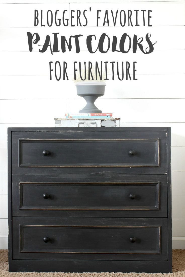 Sixteen Bloggers share their favorite paint colors for furniture. Learn from the experts and rock your furniture makeovers every time!
