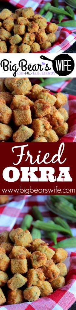 Homemade Southern Fried Okra! - If you're going to splurge on fried food, make sure it's worth it! Serve this Southern Fried Okra along side your favorite burger, brisket or fried chicken!