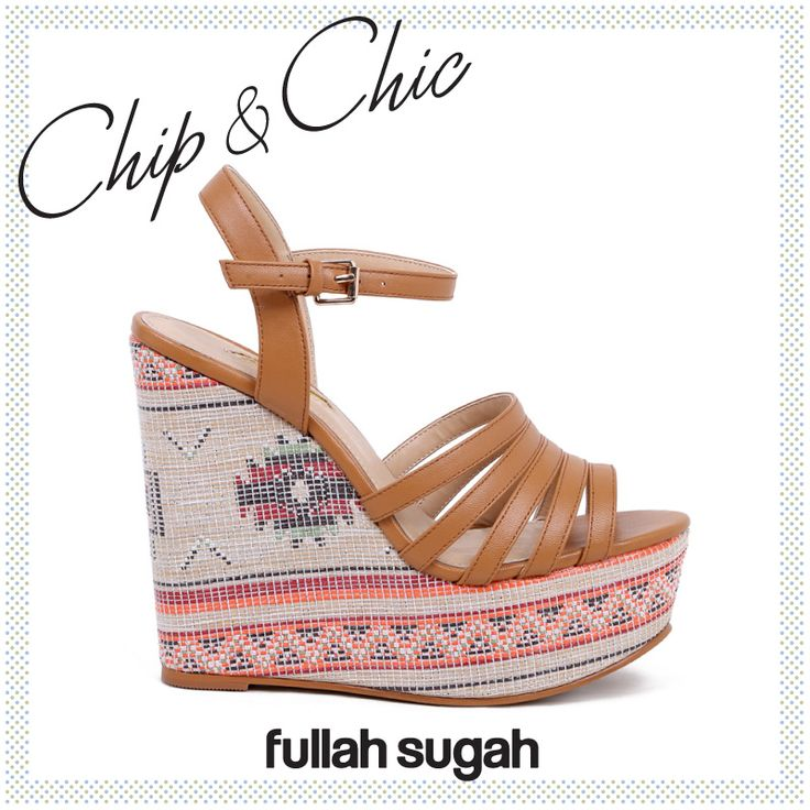 Chip & Chic by Fullah Sugah! Ethnic πλατφόρμα | 1447100466 #sales #trends #wedges #style #shoes #fullah_sugah