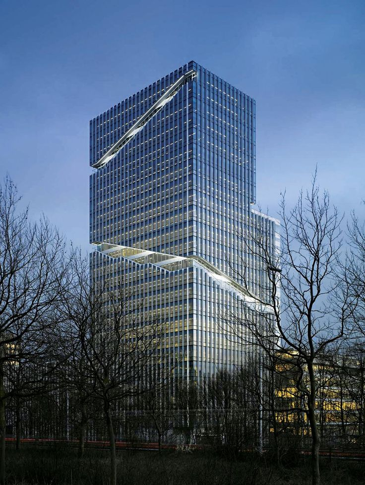 Mahler 4 Office Tower in Amsterdam by Rafael Vinoly
