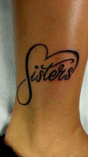 Corazón con Frase: Sisters e Infinito - Tatuajes para Mujeres. Encuentra esta muchas ideas mas de Tattoos. Miles de imágenes y fotos día a día. Seguinos en Facebook.com/TatuajesParaMujeres!